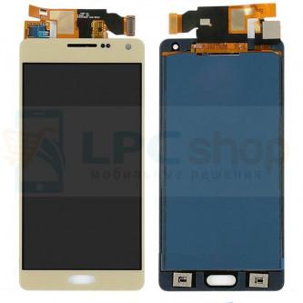 Дисплей Samsung A500F (A5) в сборе с тачскрином Золото - (TFT матрица)
