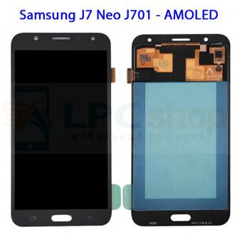 Дисплей Samsung J7 Neo J701F в сборе с тачскрином Черный - (AMOLED)