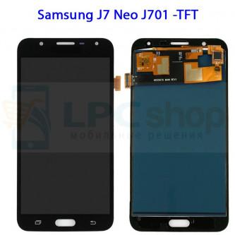 Дисплей Samsung J7 Neo J701F в сборе с тачскрином Черный - (TFT матрица)
