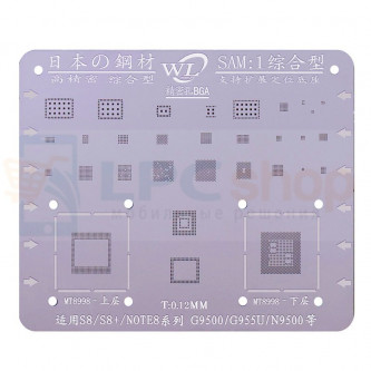 BGA трафарет Samsung S8 G950F / S8+ G955F / Note 8 N950F (SAM:1) MT8998