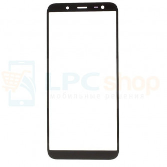 Стекло (для замены / переклейки) Samsung J6 2018 J600F Черное