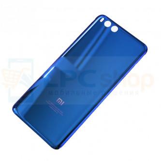 Крышка(задняя) Xiaomi Mi Note 3 Синяя (СТЕКЛО)