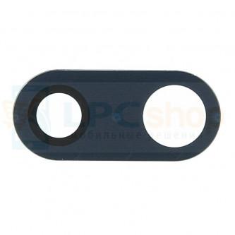 Стекло (для переклейки) камеры LG H930 V30 Черное