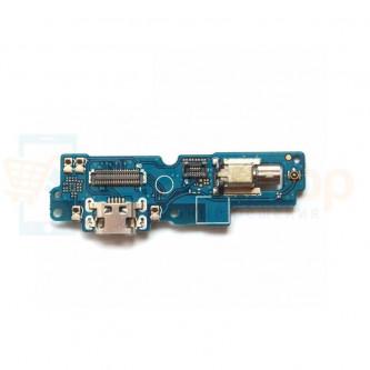 Шлейф разъема зарядки Asus ZC554KL (ZenFone 4 Max) микрофон и вибромотор