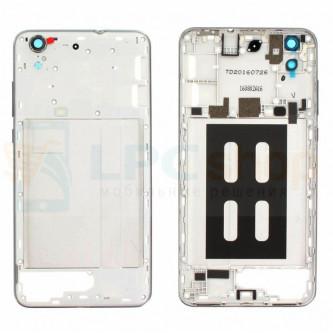 Корпус (средняя часть) Huawei Y6 II Серая + Линза камеры и кнопки (версия с одной сим картой)
