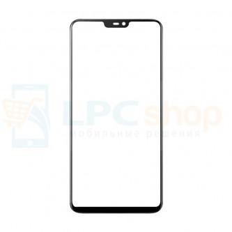 Стекло (для переклейки) OnePlus 6 Черное