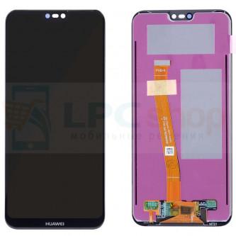 Дисплей Huawei P20 Lite / Nova 3e в сборе с тачскрином Черный - Оригинал LCD