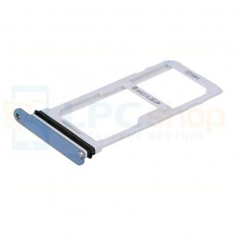 Лоток сим карты и карты памяти LG G7 ThinQ G710 Синий