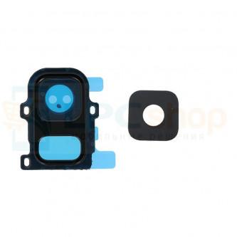 Стекло (для переклейки) камеры Samsung  A6 2018 A600F Черное