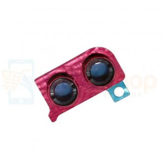 Стекло (для переклейки) камеры Huawei Honor 8X Красное в рамке