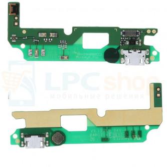 Шлейф разъема зарядки Alcatel OT-5046D (A3) (плата) и микрофон
