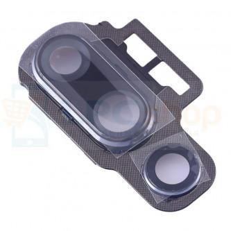 Стекло (для переклейки) камеры Huawei P20 Pro Черное в рамке