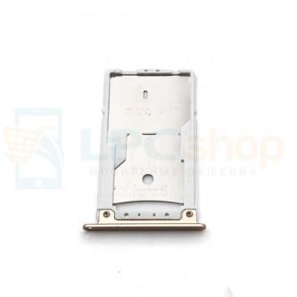 Лоток сим карты и карты памяти Asus ZenFone 3 Max ZC520TL Золото