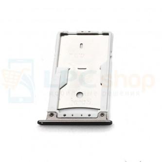 Лоток сим карты и карты памяти Asus ZenFone 3 Max ZC520TL Черный