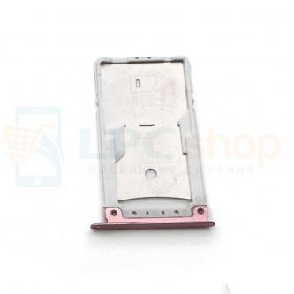 Лоток сим карты и карты памяти Asus ZenFone 3 Max ZC520TL Розовое Золото