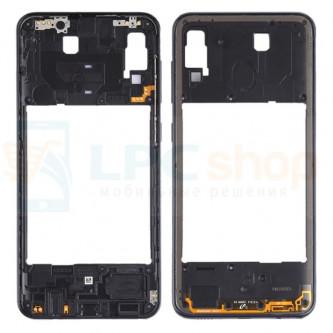 Средняя часть Samsung Galaxy A30 A305F Черная + кнопки громкости