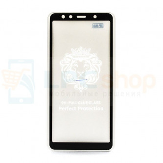 5D Бронестекло (защитное стекло) для Samsung A750F (A7 2018) Черное