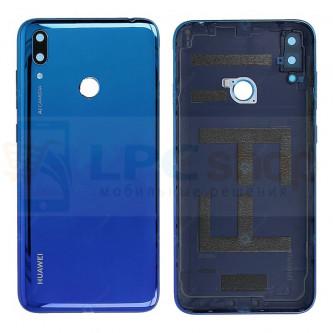 Крышка(задняя) Huawei Y7 2019 Синий (глянцевая)