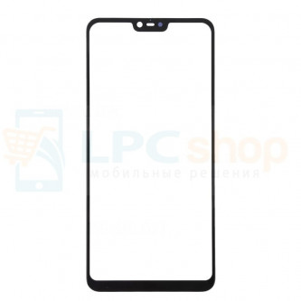 Стекло (для замены / переклейки) Xiaomi Mi 8 Lite Черное