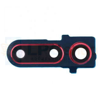 Стекло (для замены) камеры Huawei Honor View 20 Красное в рамке