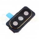 Стекло задней камеры Xiaomi Mi Mix 2s черное + рамка