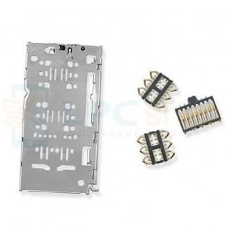 Коннектор SIM + MicroSD Samsung A750F / A920F / A105 / A505