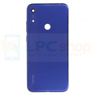 Крышка(задняя) Huawei Honor 8A Синий (с вырезов под отпечаток)