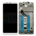 Дисплей Xiaomi Redmi 5 Plus с тачскрином в рамке Белый - Оригинал LCD