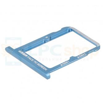 Лоток сим карты Xiaomi Mi 6X / Mi A2 Синий (на 2 сим карты)