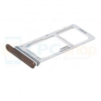 Лоток сим карты и карты памяти Samsung Galaxy Note 9 N960F / DS Медный (metallic copper)