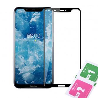Защитное стекло (Полное покрытие) для для Nokia 8.1 (2018) Черное
