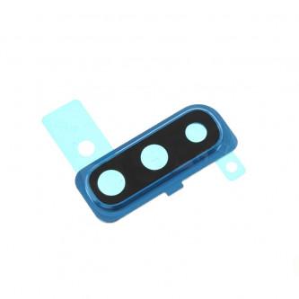 Стекло задней камерыSamsung Galaxy A50 A505F c синей рамкой