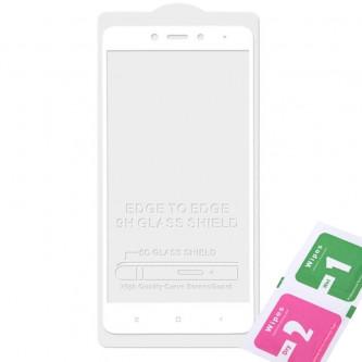 Защитное стекло (Полное покрытие) для для Xiaomi Redmi Note 4X / Note 4 Global Version Белое