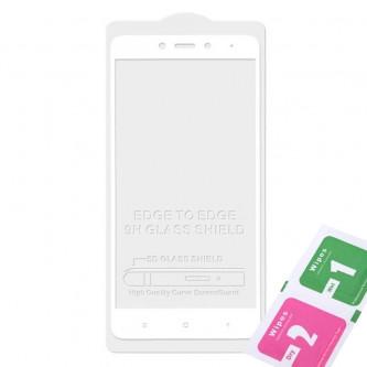 Защитное стекло (Полное покрытие) для для Xiaomi Redmi 4X Белое