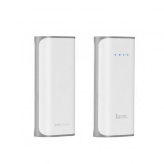 Аккумулятор (Power Bank) Hoco B21 5200 mAh (2A, с фонариком) Белый