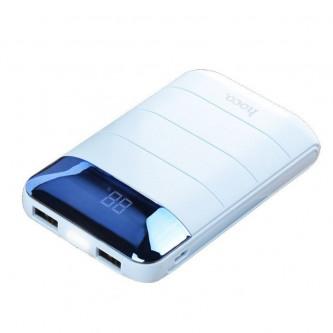 Аккумулятор (Power Bank) Hoco B29 10000 mAh (2A, 2USB, с дисплеем) Белый
