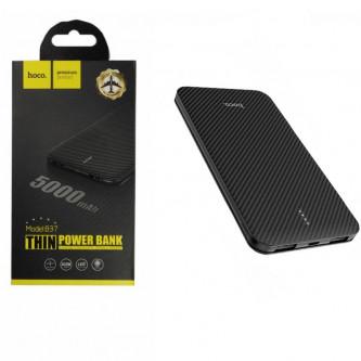 Аккумулятор (Power Bank) Hoco B37 5000 mAh (1A, 2USB) Черный