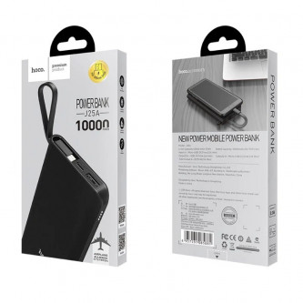Аккумулятор (Power Bank) Hoco J25A 10000 mAh (2A, встроенный кабель MicroUSB) Черный