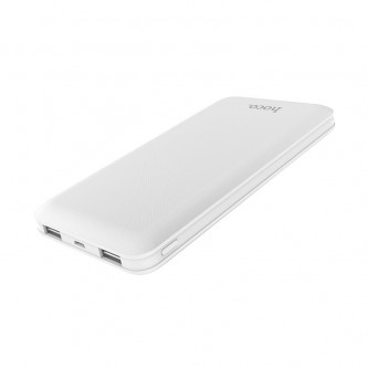 Аккумулятор (Power Bank) Hoco J26 10000 mAh (2A, 2USB) Белый