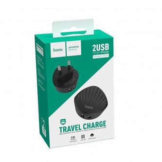 СЗУ USB Hoco C67A (2.4A, 2 порта) Черный