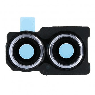 Стекло задней камеры Huawei Honor 10 Lite Серебро в рамке (для Sky Blue)