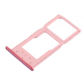 Лоток сим карты и карты памяти Huawei Honor 10 Lite / Huawei P Smart 2019 Розовый (Pink)