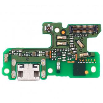 Шлейф разъема зарядки Huawei Honor 8 Lite (плата) и микрофон - Оригинал