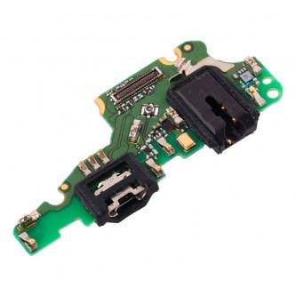 Шлейф разъема зарядки Huawei Nova 2i / Mate 10 Lite (плата) и микрофон - Оригинал