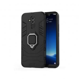 Защитный чехол - накладка для Huawei Mate 20 Lite Черный (с магнитом для держателя и кольцом)