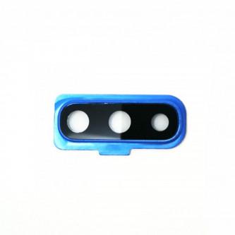 Стекло задней камеры Samsung Galaxy A70 A705F c синей рамкой