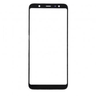 Стекло (для замены) Samsung Galaxy A6+ Plus 2018 A605F Черное