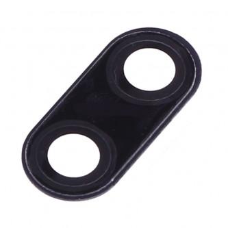 Стекло задней камеры Meizu 15 Plus Черное