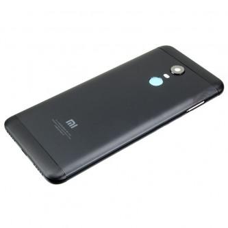 Крышка(задняя) Xiaomi Redmi 5 Plus Черная + Кнопки + Линза Камеры (высокое качество)