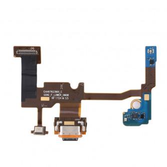 Шлейф разъема зарядки Google Pixel 2 XL и микрофон